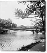 Central Park The Lake Canvas Print