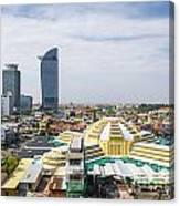 Central Phnom Penh In Cambodia Canvas Print