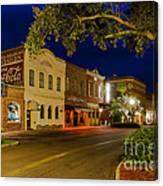 Centre Street Downtown Fernandina Florida Canvas Print