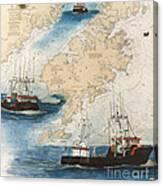 Centurion Trawl Fishing Boat Nautical Chart Art Canvas Print