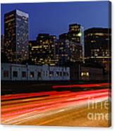 Century City Skyline At Night Canvas Print
