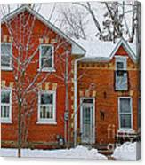 Century Home In Winter 3 Canvas Print