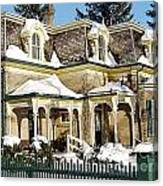 Century Home In Winter Canvas Print