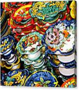 Ceramics Of Vietri Sul Mare  Canvas Print