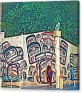 Ceremonial Lodge In Canadian Museum Of Civilization In Gatineau- Canvas Print