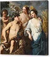 Ceres Bacchus And Venus Canvas Print