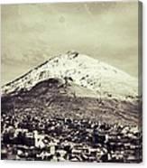 Cerro Rico Potosi Black And White Vintage Canvas Print