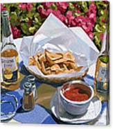 Cervezas Y Nachos - Coronas With Nachos Canvas Print