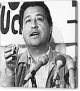 Cesar Chavez Announces Boycott Canvas Print