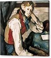 Cezanne, Paul 1839-1906. The Boy Canvas Print