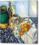 Cezanne Still Life With Apples In Watercolor Canvas Print