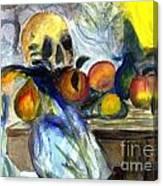 Cezanne Still Life With Skull Canvas Print