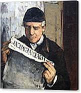 Cezanne's Father Reading Le Evenement Canvas Print