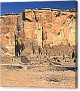 Chaco Culture Puebo Bonito Panorama Canvas Print