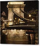 Chain Bridge Close-up Canvas Print