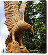 Chainsaw Carved Eagle Canvas Print
