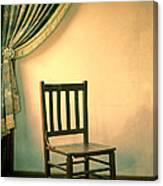 Chair And Curtain Canvas Print