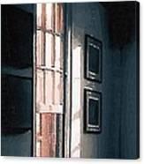 Chair In A Blue Corner Canvas Print