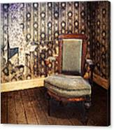 Chair In Abandoned Room Canvas Print