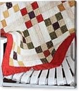 Chair Quilt            Brush Strokes Canvas Print