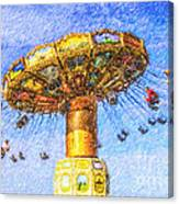 Chairoplane Waveswinger Canvas Print