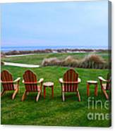 Chairs At The Eighteenth Hole Canvas Print