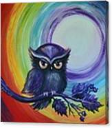 Chakra Meditation With Owl Canvas Print