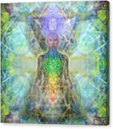 Chakra Tree Anatomy In Chalice Garden Canvas Print