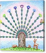 Chakra Tree Canvas Print