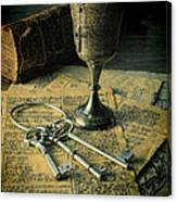 Chalice And Keys Canvas Print