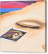 Chalk Event Eye Canvas Print