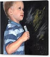 Chalk Talk - Mom Loves U Canvas Print