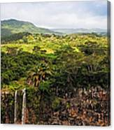 Chamarel Waterfall. Mauritius Canvas Print