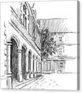 Chambord Courtyard Canvas Print
