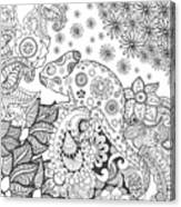 Chameleon In Fantasy Forest. Animals Canvas Print