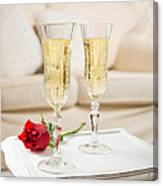 Champagne And Rose Canvas Print