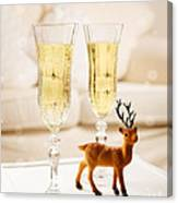Champagne At Christmas Canvas Print