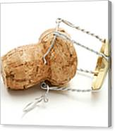 Champagne Cork Stopper Canvas Print