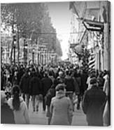 Champs Elysees Black N White Canvas Print