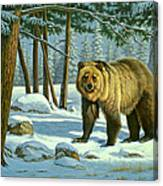 Chance Encounter - Grizzly Canvas Print
