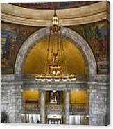 Chandelier At State House Canvas Print