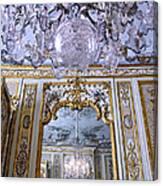 Chandelier Inside Chateau De Chantilly Canvas Print