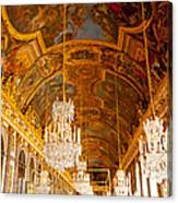 Chandeliers And Ceiling Of Versailles Canvas Print