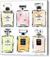 Chanel Perfumes Canvas Print