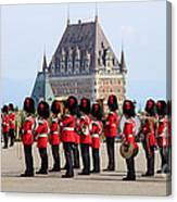 Changing Of The Guard The Citadel Quebec City Canvas Print