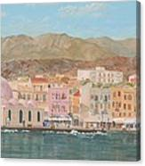 Chania Harbour Early Summer Morning Canvas Print