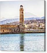 Chania Lighthouse Canvas Print