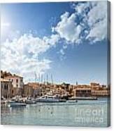 Chania Town On Crete Canvas Print