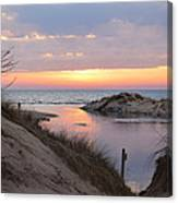 Channel Sunset Canvas Print