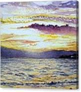 Chapala Sunset Canvas Print